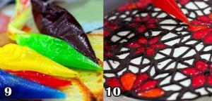 آموزش کیک با ژله بریلو مدل شیشه رنگی