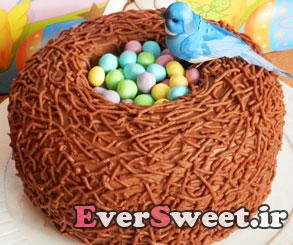 تزیین کیک مدل لانه پرنده