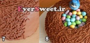 اموزش تزیین کیک تولد