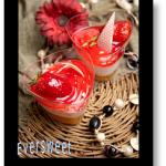 دسر سه رنگ با طعم توت فرنگی