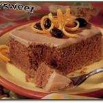 کیک پرتقالی با کاپوچینو
