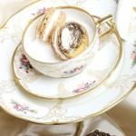 شیرینی ماکارون با چای