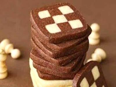 تهیه بیسکویت شطرنجی